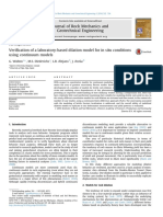 Verification of a laboratory-based dilation model for in situ conditions