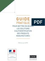 Guide Des Solutions d'Authentification Produits Manufactures