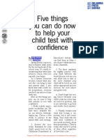 5 things you can do now to help your child test with confidence