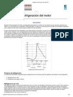 Refrigeracion del motor del automovil