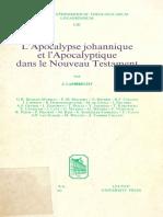 (Bibliotheca Ephemeridum Theologicarum Lovaniensium 53) Jan Lambrecht (ed.) - L'Apocalypse johannique et l'Apocalyptique dans le Nouveau Testament-Leuven University Press (1980).pdf