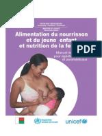 Alimentation du nourrisson et du jeune enfant et nutrition de la femme