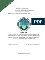 27. Informe. Auditoría de Servicios Hospitalarios