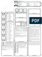Pre- Rolled 5e Character Sheet - Sparkle Fart III