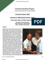 U.S. Coast Guard Oral History Program - EM2 Rodney Gordon