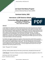 U.S. Coast Guard Oral History Program - LCDR Shannon Gilreath