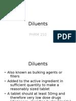 Diluents