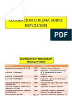 LEGISLACION CHILENA SOBRE EXPLOSIVOS