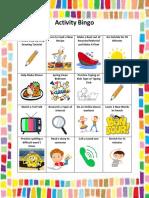 activity bingo pdf