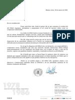 Comunicado de AFA al Gobierno Nacional
