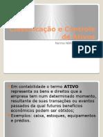 Classificacao e controle de ativos