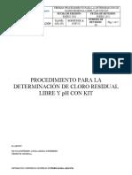 APA-001 Procedimiento para la determinacion de cloro residual y pH con kit