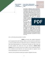 R.N. N.º 145-2019-Lima Error de Tipo