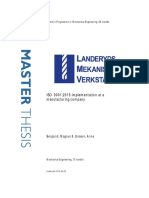 ISO 9001_2015 implementation at a manufacturing company