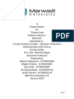 """Project Report On """"Online Food Delivery Industry"""" (Zomato)"""
