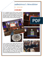 Newsletter No 104 - 20th March 2020