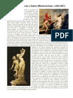 Apolo y Dafne (Ovidio Metamorfosis)