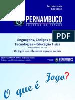 OS JOGOS NOS DIFERENTES ESPAÇOS SOCIAIS.ppt