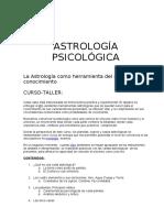ASTROLOGÍA PSICOLÓGICA