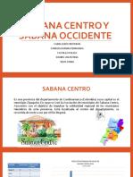 SABANA CENTRO Y SABANA OCCIDENTE