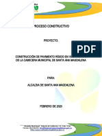 Proceso Constructivo Pavimento Santa Ana 2020