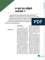 MELOT, Michel. Qu est-ce qu un objet patrimonial.pdf