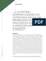 Aquino, J. Da (contra)normatividade do cotidiano escolar.pdf
