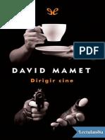 Dirigir cine - David Mamet.epub