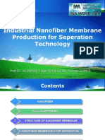 Industrial Nanofiber Membrane Production for on Technology