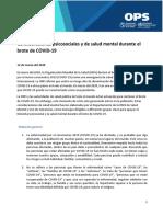 Consideraciones Psicosociales y de Salud Mental Durante El Brote de COVID-19