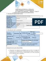 Guía de activides y rúbrica de evaluación - Tarea 2 - Trastornos de la infancia y la adolescencia