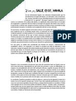 El Saludo. Trabajo de Filosofía 4C ESO
