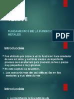 Tema 2. Fundamentos de la Fundición de Metales