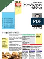 Steiner, Rudolf [ga294] Metodología y didáctica