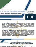PPT CULTURA EMPRENDEDORA