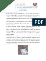 DETERMINACIÓN DEL PESO UNITARIO DE LOS AGREGADOS