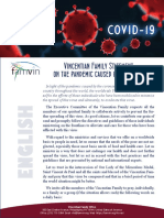 [English]  Vincentian Family Statement on the pandemic caused by COVID-19
