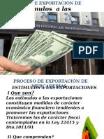 ESTIMULOS A LAS EXPORTACIONES - MATERIAL PARA DAC 2º C 2019