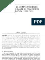 Argentina El comportamiento electoral durante la transición democrática  L. De Riz