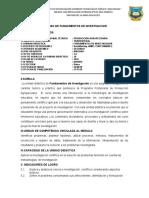 SÍLABO DE FUNDAMENTOS DE INVESTIGACION