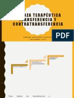III.- Alianza terapéutica, Transferencia y contratransferencia