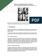 Raíces Históricas de la modificación conductual