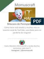 Máscara de Pennywise papercraft