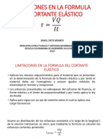 LIMITACIONES EN LA FORMULA DEL CORTANTE ELÁSTICO