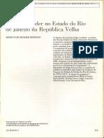 FERREIRA, MARIETA DE MORAES - Política e poder no Estado do Rio