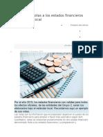 Ejemplo de notas a los estados financieros