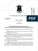 Rhode Island executive order on background check extension