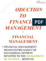 Intro. to Fin. Mgt
