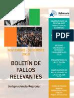 Boletín de Fallos Relevantes noviembre diciembre 2019