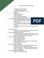 Lenguaje y técnicas de investigación